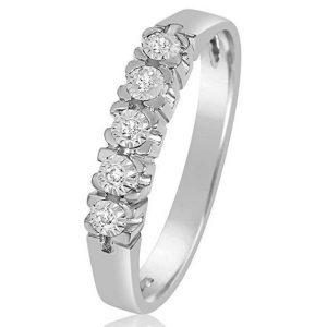 Anillo de diamante compromiso
