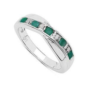 Anillo de esmeralda con diamantes
