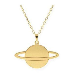 Colgante de oro Saturno