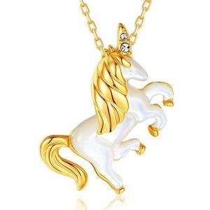 Colgante de oro unicornio