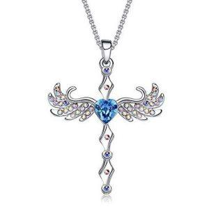 Colgante de plata alas ángel