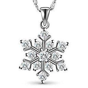 Colgante de plata nieve