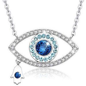 Colgante de plata ojo azul