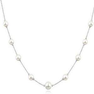 Collar de perlas con cristal Swarovski