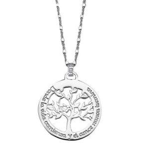 Collar Lotus Silver árbol de la vida