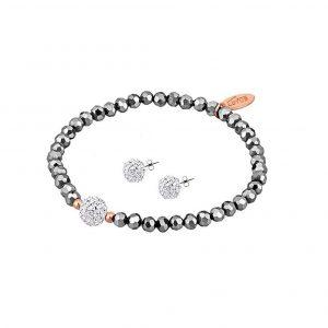 Conjunto pendientes y pulsera Lotus Silver