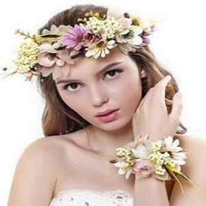 Diadema para boda de flores