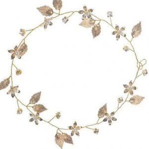 Diadema para boda de hojas
