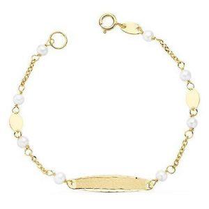Esclava de oro con perlas