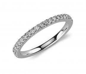 Anillos de oro blanco con diamantes de mujer