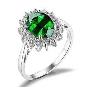 Moderno anillo con esmeralda oval