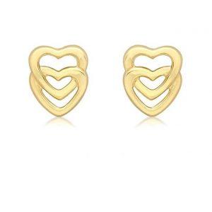 Pendientes de oro corazones