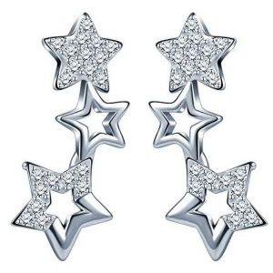 Pendientes de plata estrellas