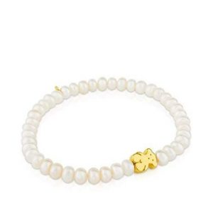 Pulsera Tous perlas elástica