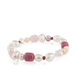Pulsera Tous perlas gemas granates