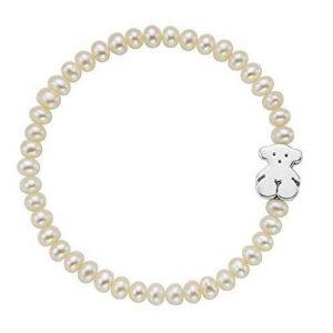 Pulsera Tous perlas plata de primera ley