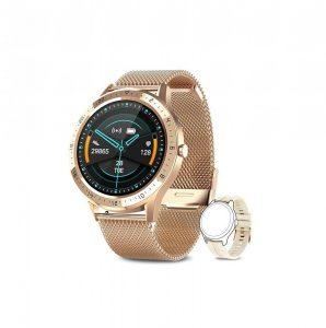 Reloj moderno de mujer dorado